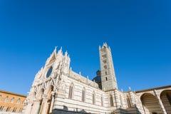 Opinião do dia da catedral de Siena, Toscânia, Itália Imagens de Stock Royalty Free