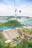 Opinião do dia da ilha de Sentosa Fotografia de Stock Royalty Free