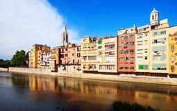 Opinião do dia de Girona Imagens de Stock