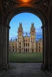 Opinião do dia de toda a faculdade das almas em Oxford Imagens de Stock