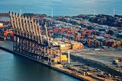 Opinião do dia do porto em Yantian Shenzhen portuário China Foto de Stock Royalty Free