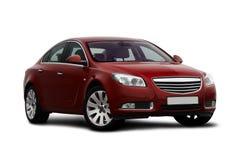 opinião do Dianteiro-lado do carro do vermelho de cereja foto de stock royalty free