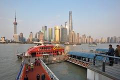 Opinião do distrito de Pudong Imagens de Stock Royalty Free