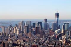 Opinião do Empire State Building de New York City Manhattan, New York City, EUA, América fotos de stock