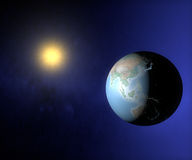 Opinião do espaço da terra Ásia e Austrália Fotos de Stock