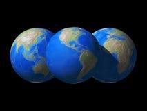 Opinião do espaço do globo do mundo Fotos de Stock