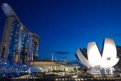 Opinião do Esplanade da noite atrasada Fotos de Stock