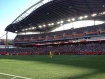 Opinião do estádio de Winnipeg Foto de Stock Royalty Free