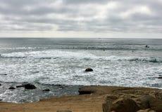 Opinião do fim da tarde do Oceano Pacífico no Point Loma Imagens de Stock Royalty Free