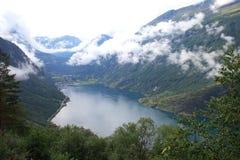 Opinião do Fjord Imagem de Stock Royalty Free