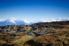 Opinião do Fjord fotografia de stock royalty free
