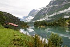 Opinião do Fjord Imagens de Stock Royalty Free