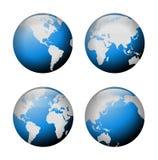 Opinião do globo Fotografia de Stock Royalty Free