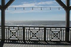 Opinião do Golfo do México do oceano da plataforma o fotos de stock royalty free