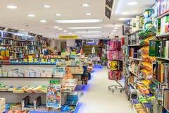 Opinião do interior da livraria Fotografia de Stock