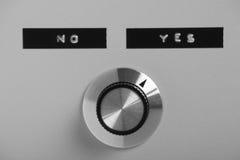 Opinião do interruptor de controle foto de stock