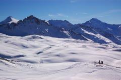 Opinião do inverno da estância de esqui Foto de Stock