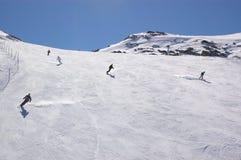 Opinião do inverno da estância de esqui Imagens de Stock