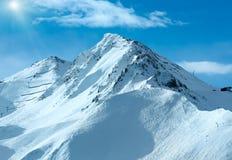 Opinião do inverno dos cumes de Silvretta (Áustria) Fotografia de Stock Royalty Free