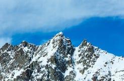 Opinião do inverno dos cumes de Silvretta (Áustria) Imagens de Stock Royalty Free