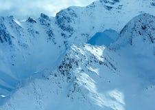 Opinião do inverno dos cumes de Silvretta (Áustria) Fotos de Stock Royalty Free