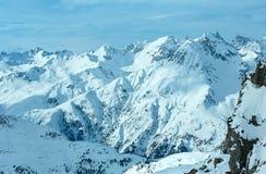 Opinião do inverno dos cumes de Silvretta (Áustria) Imagens de Stock