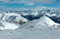 Opinião do inverno dos cumes de Silvretta (Áustria) Foto de Stock Royalty Free