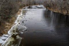 Opinião do inverno em James River Foto de Stock