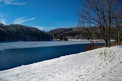 Opinião do inverno do lago Abbott imagem de stock royalty free