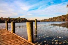 Opinião do lago autumn imagem de stock