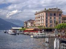 Opinião do lago Bellagio em Como Italy fotos de stock royalty free