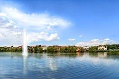 Opinião do lago coastline Imagem de Stock Royalty Free