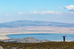 Opinião do lago da cimeira imagens de stock royalty free