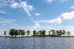 Opinião do lago em Giethoorn Fotografia de Stock
