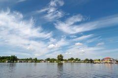 Opinião do lago em Giethoorn Foto de Stock Royalty Free