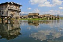 Opinião do lago Inle Imagens de Stock Royalty Free
