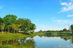 Opinião do lago no parque Imagem de Stock Royalty Free