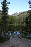 Opinião do lago nymph imagem de stock