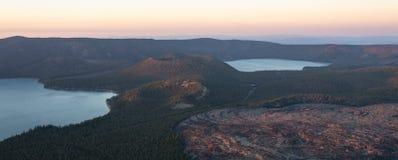 Opinião do lago paulina no por do sol fotos de stock royalty free