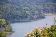Opinião do lago Tamblingan em Bali Fotografia de Stock