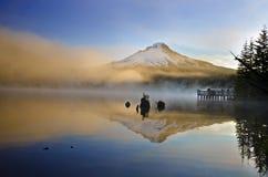 Opinião do lago Trillium no nascer do sol Imagens de Stock Royalty Free