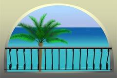 Opinião do mar ilustração stock