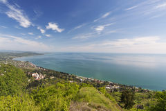 Opinião do mar, Athos novo Foto de Stock