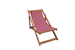 Opinião do mar com um assento de madeira Imagem de Stock
