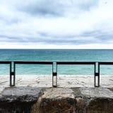 Opinião do mar da cerca do castelo Imagem de Stock