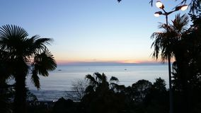 Opinião do mar da noite ao horizonte vídeos de arquivo