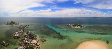 Opinião do mar de acima Imagem de Stock Royalty Free