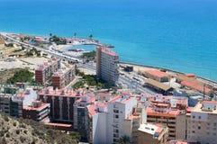 Opinião do mar de Alicante, Espanha Foto de Stock