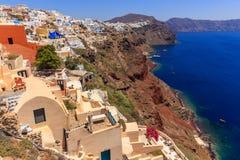 Opinião do mar de Santorini Oia Fotografia de Stock Royalty Free