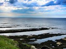 Opinião do mar de scotland, Inglaterra fotografia de stock